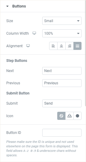 Form - Buttons