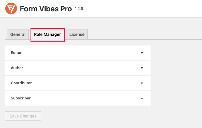 Role Manager - Form Vibes